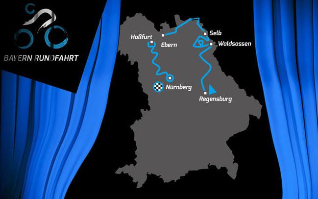 Etappen der Bayern Rundfahrt 2015 ©Bayern Rundfahrt e.V.