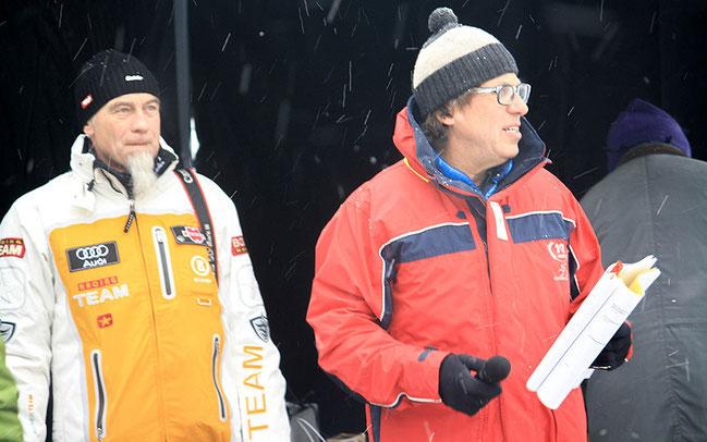 Zwei der Macher des Events: Titelsponsor Peter Krebs und RSA-Veranstalter Heinz Betz © Radsportakademie