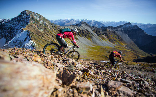 "Biken in Graubünden © David Schultheiss/""Mountain Bike Holidays"""
