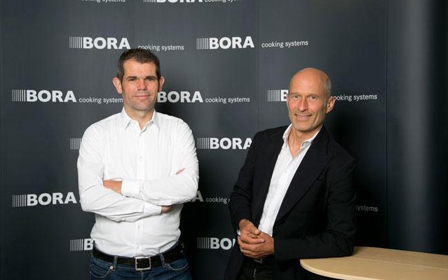 Teamchef Ralph Denk (l.) und Willi Bruckbauer von Hauptsponsor Bora © Ralph Denk Pro Cycling