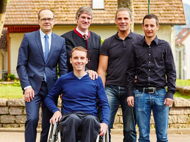 Jochen Brachs, Christian Rasch, Patrik Faller, Sebastian Eckmann (v.l.n.r.) und vorne Benjamin Rudiger © Silja Herrmann