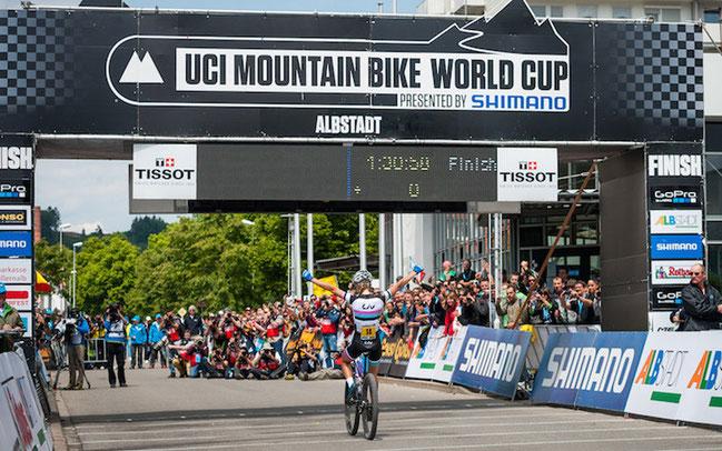 Zieleinlauf beim Weltcup in Albstadt ©Andreas Dobslaff/EGO-Promotion