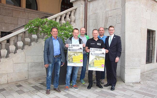 Vorfreude auf den Weltcup: Udo Sprenger, Jo Triller, Olaf Holz, Stephan Salscheider, Rainer Schairer, Herr Wurm