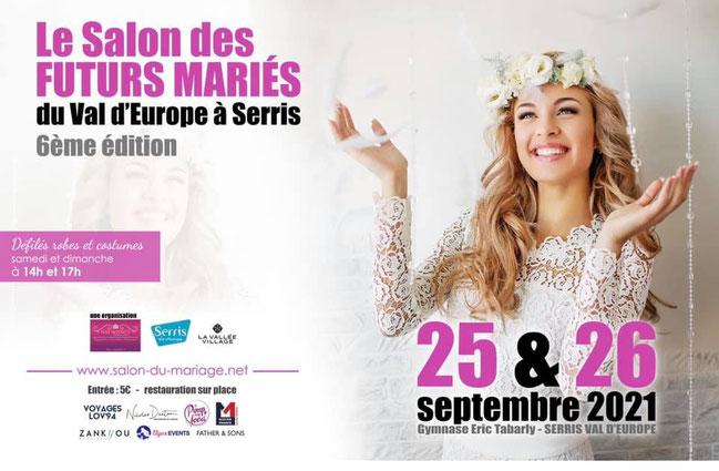 Salon des Futurs Mariés du Val d'Europe 25 et 26 Septembre 2021
