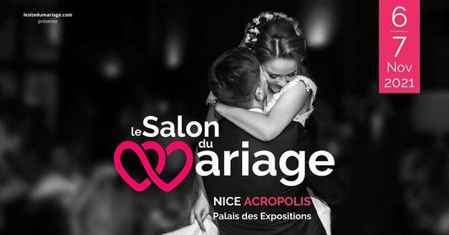 Le salon du mariage à Nice Acropolis les 06 et 07 Novembre 2021