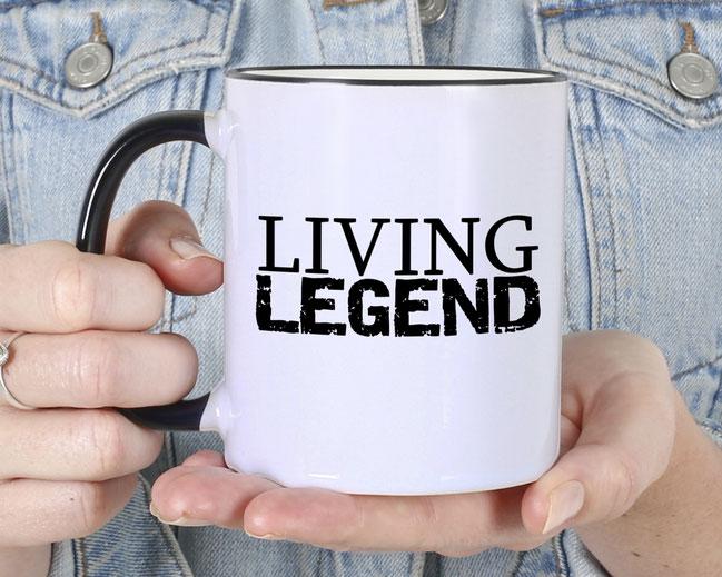 Bedruckte Tasse Living Legend