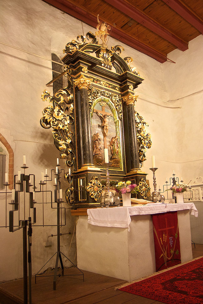 Altar der Kirche von Atterwasch