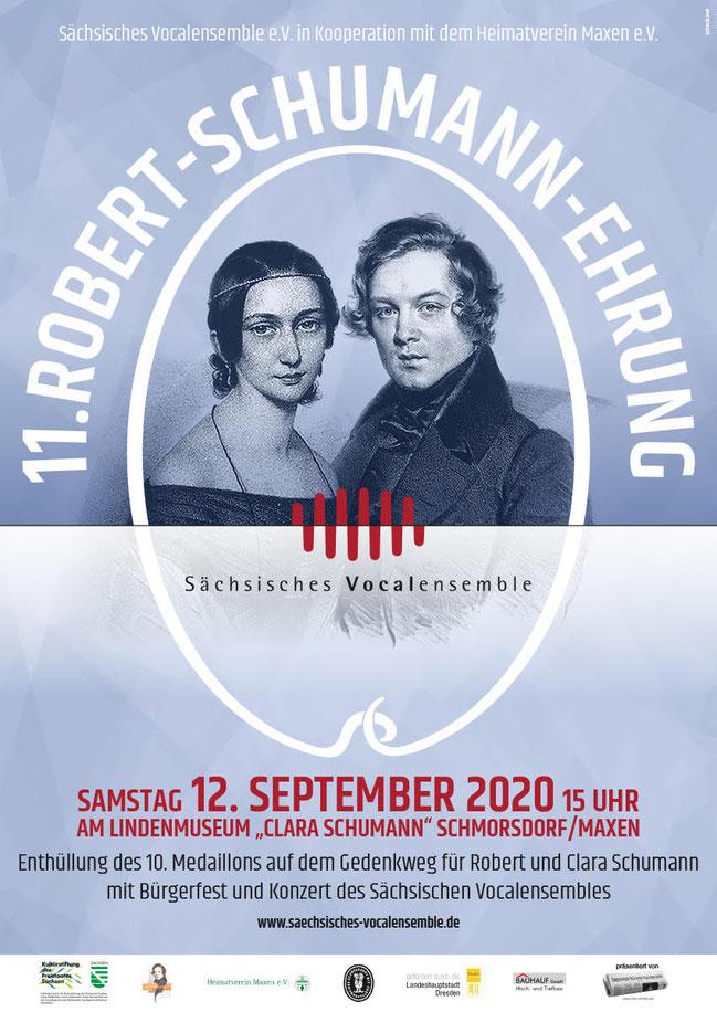 Plakat 11. Robert-Schumann-Ehrung 12.09.2020
