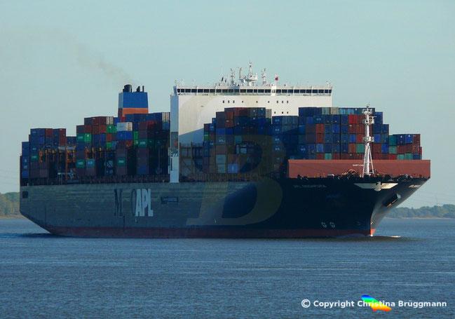 Schwesterschiff APL SINGAPORA zeigt ursprüngliche Bauweise