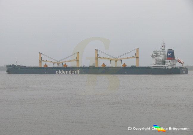Bulkcarrier GEBE OLDENDORFF auf der Elbe am 05.11.2018