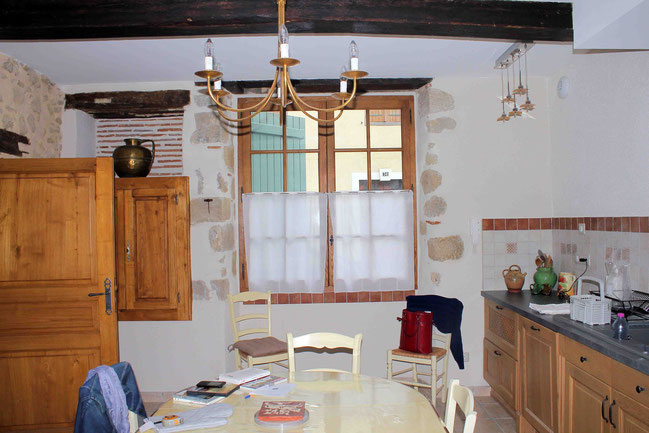 The Kitchen was a Part of an old Hospice of Marciac / La Cuisine