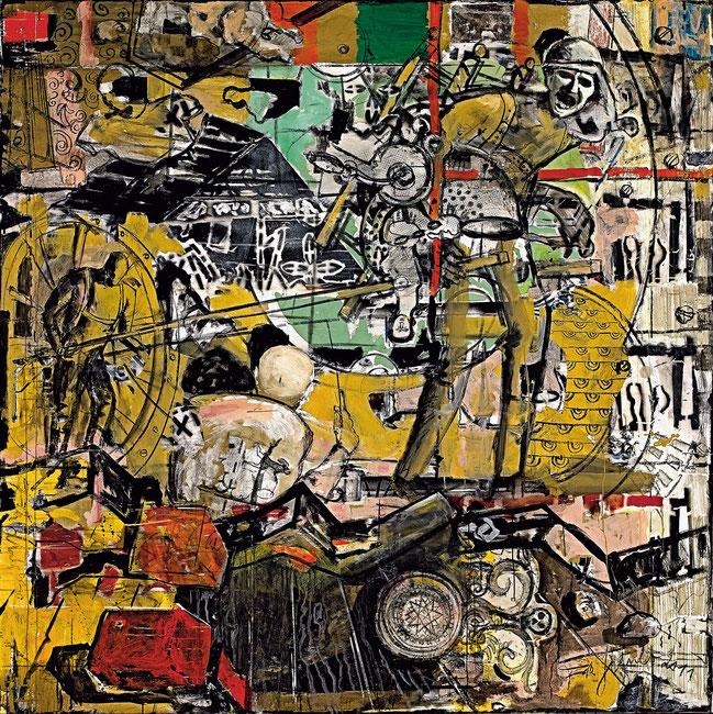 Müll der Zeit · 2011 · 1.800 x 1.800 mm · Öl auf Leinwand