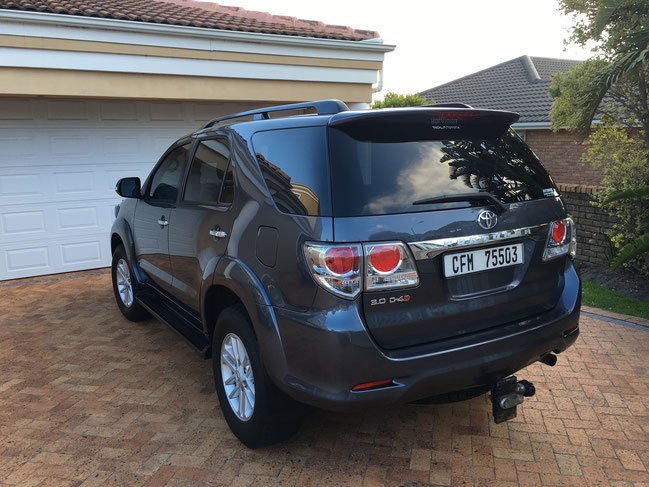 Toyota Fortuna - Mietauto - Südafrika Somerset West