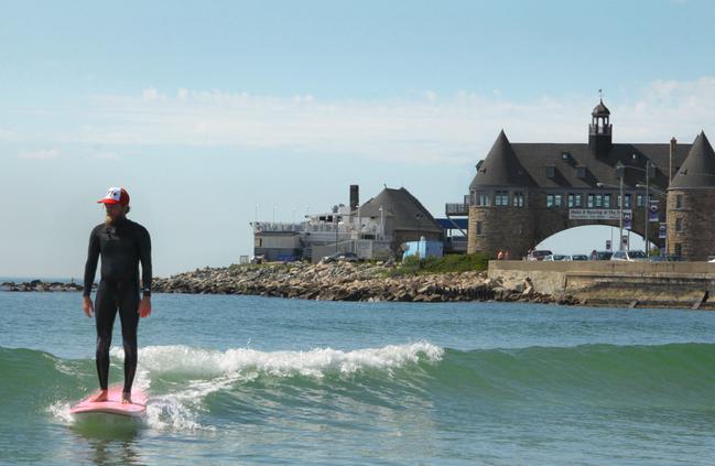 Narragansett beach is one of the best parts of Rhode island