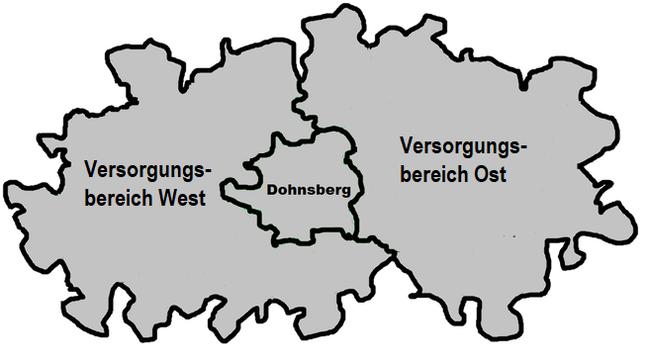 Rettungswachenversorgungsbereiche im Landkreis Dohnsberger Land