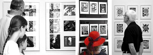 Galerie im Park Viersen, Eröffnung der Ausstellung Scharweiß, Ausstellungssituation der Schülerarbeiten Realschule an der Josefskirche