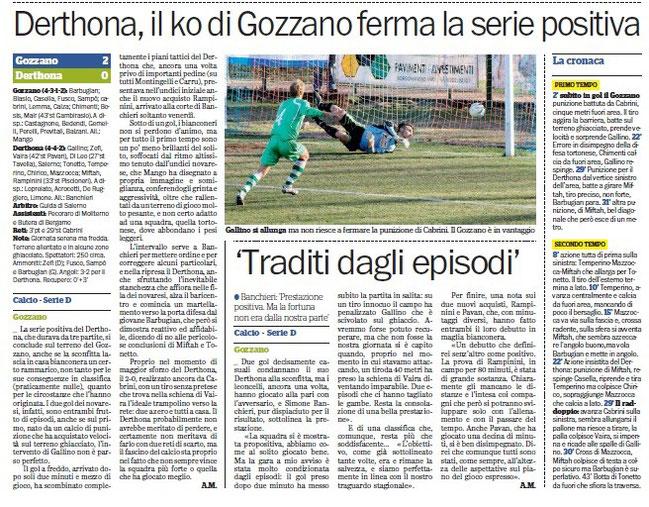 2012-13 GOZZANO - DERTHONA 2-0