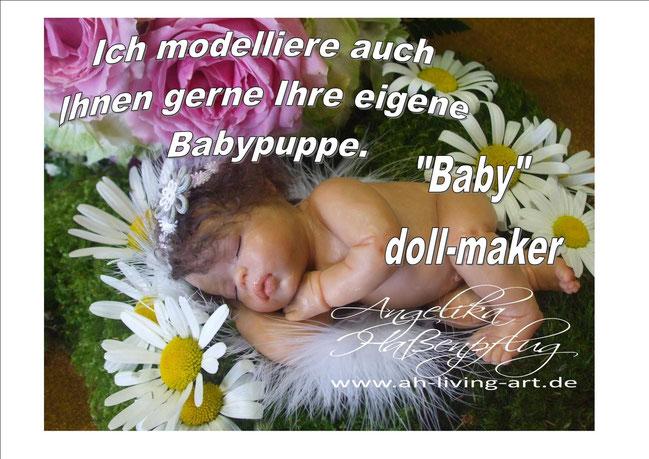 Baby doll-maker, angelika Haßenpflug, modellieren von baby ooak