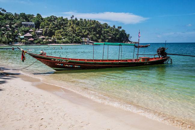 Boot am Haad Salad Beach Koh Phangan