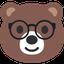 Emoji Ours à Lunettes