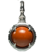 A treasure ball that prays at the sacred place Utaki in Okinawa  Red Jasper Power stone Pendant Necklace