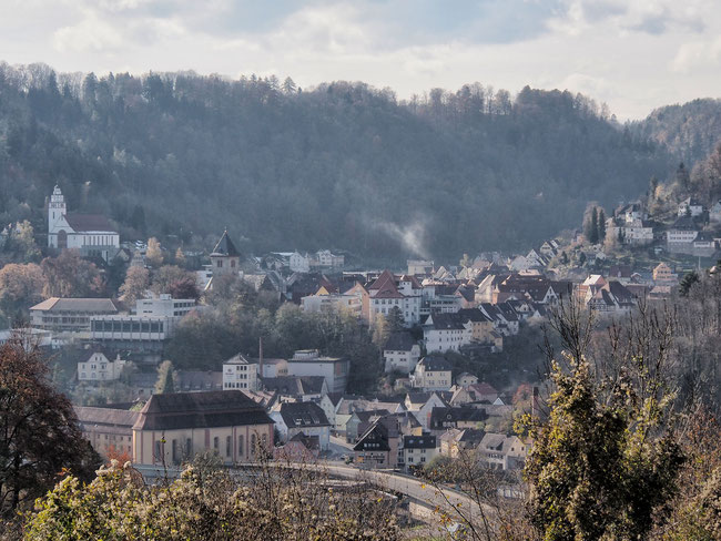 Blick auf Tal- und Oberstadt