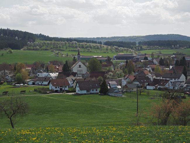 Blick auf Böhringen