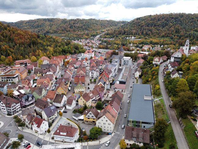 Blick auf die Oberstadt Oberndorf