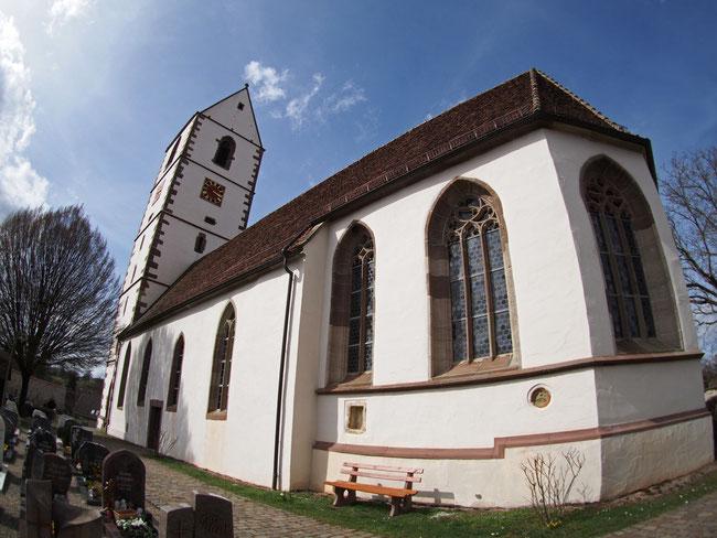 Kirche Bergfelden - Aufnahme mit dem Fisheye-Objektiv