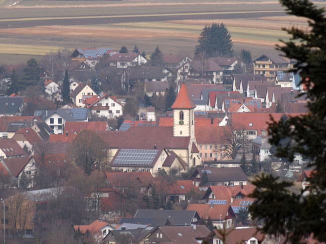 Blick auf Bochingen