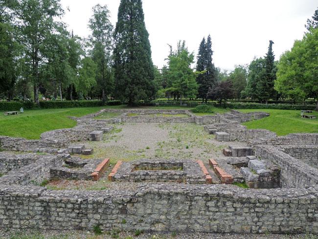 Römerbad des ehemaligen Legionslagers Kastell 1 in Rottweil (neben Stadtfriedhof)