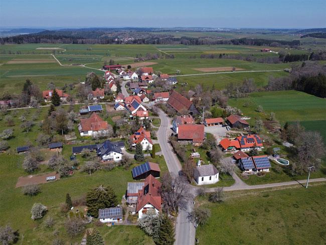 Blick auf Vaihingerhof - früher Vaihingen genannt
