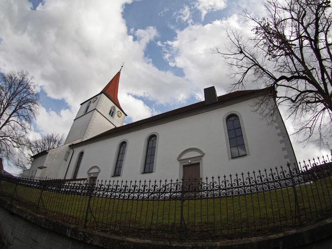 Kirche Vöhringen - Aufnahme mit dem Fisheye-Objektiv
