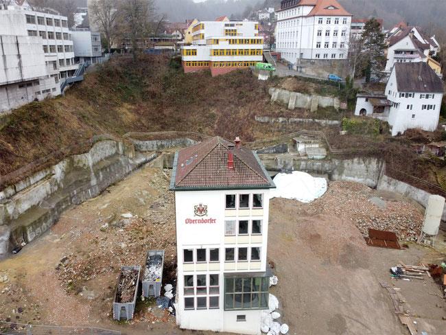 Eine hässliche Baulücke klafft nun am Fuße der Oberstadt