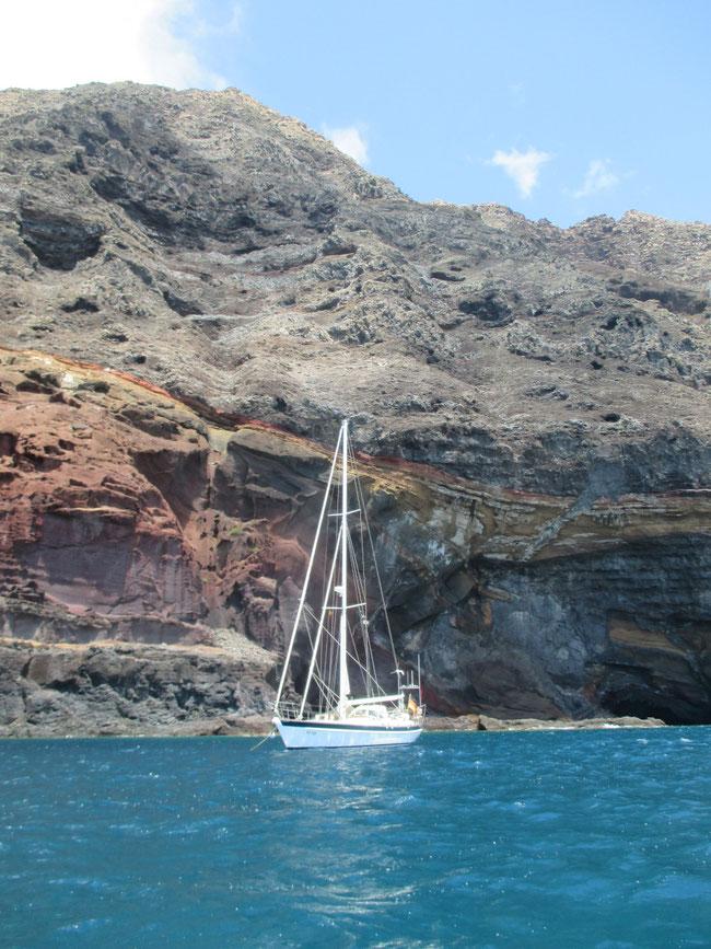 Auriga an der Mooring vor der Isla Deserta