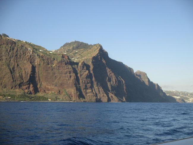 Abschied von Madeira im Abendlicht