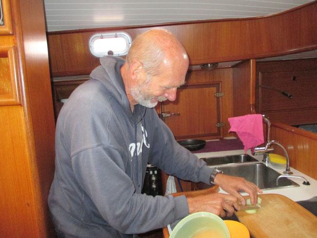 Seegang verhindert nichts - auch kein Bauernfrühstück