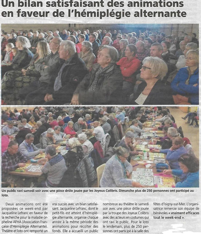 "Article du journal ""Renaissance du Bessin"" du 8 Novembre 2019"