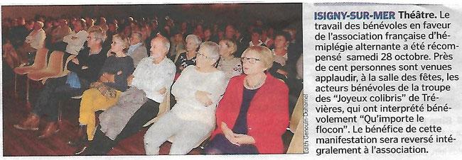 """Article paru dans le journal """"La Manche Libre- Le Bessin Libre"""" le 2 Novembre 2017"""