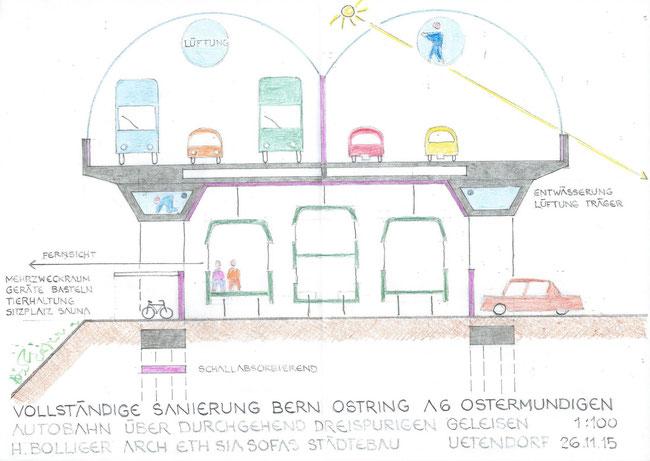 Teil 1: A6 auf SBB-Trasse Ostermundigen