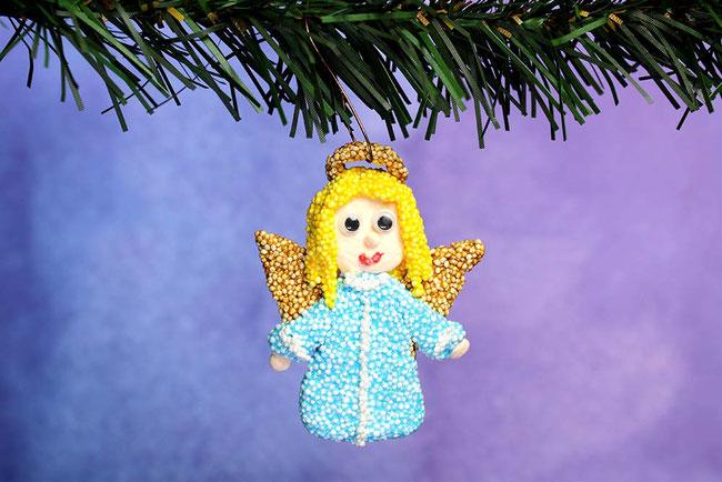 Foam Clay, Wolkenschleim, basteln mit Kindern, Bastelideen, Weihnachten, Xmas, Engel, Angel