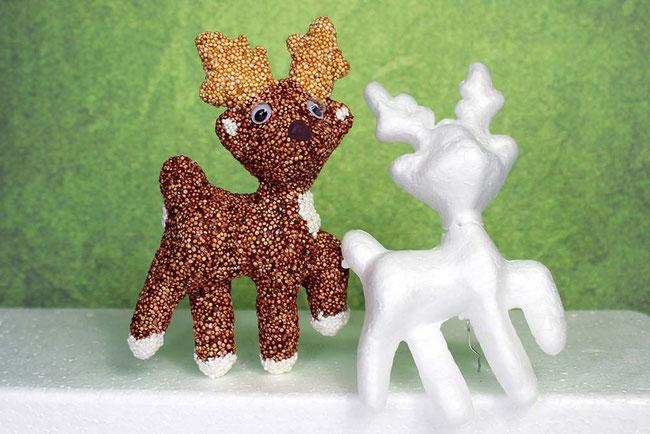 Foam Clay, Wolkenschleim, Bastelideen, Weihnachten, Xmas, Rentier