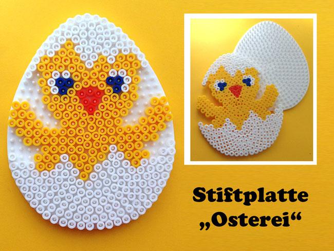 Spielwaren-Kröll - Hama - Vorlage - Stiftplatte Ei, Bügelperlen, Osterdeko, Ostern