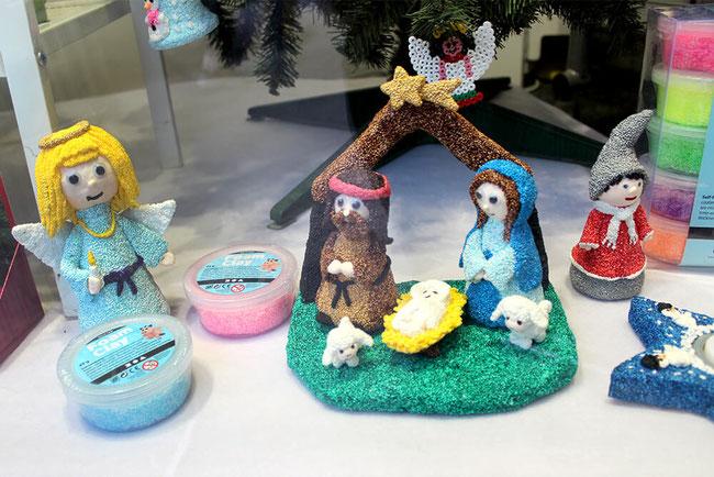 Spielwaren-Kroell, Foam Clay, Wolkenschleim, Bastelidee, Weihnachten, Xmas