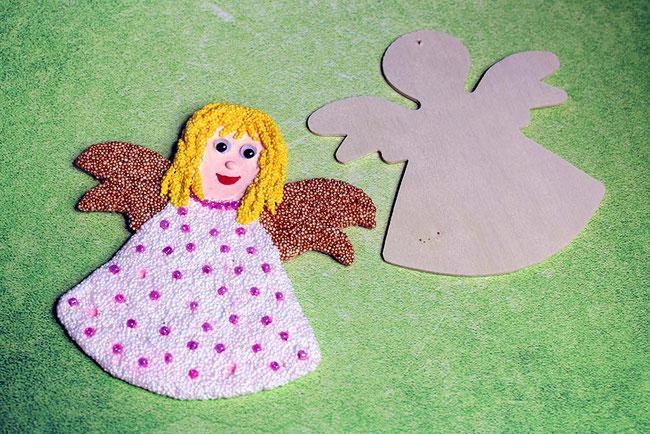 Foam Clay, Wolkenschleim, basteln mit Kindern, Weihnachten, Xmas, Engel