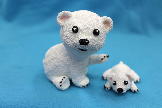 Spielwaren-Kröll, Foam Clay, Wolkenschleim, Weihnachten, Winter, Eisbaeren, Polarbears
