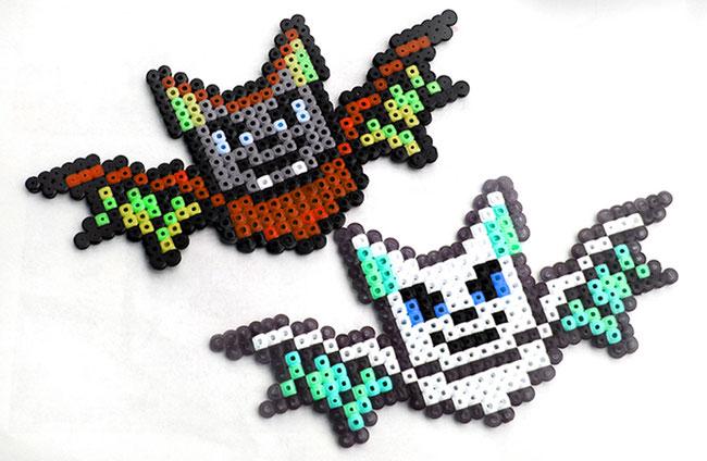 Hama-Anhänger für den Halloween-Strauch - Fledermaus