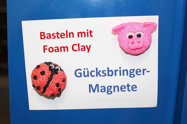 Foam Clay, Wolkenschleim, basteln mit Kindern, Bastelideen, Magnete