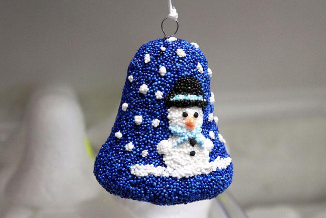 Spielwaren-Kroell, Foam Clay, Wolkenschleim, Weihnachten, Xmas, Glocke, Bell