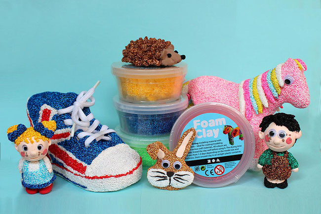 Spielwaren-Kroell, Foam Clay, Wolkenschleim, basteln, Bastelidee, DIY, basteln, Figuren